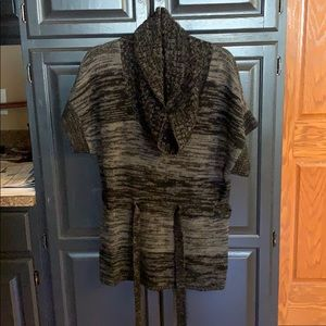 Women's Style & Co belted cowl neck sweater sz L